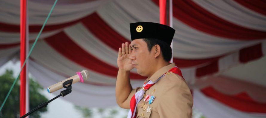 PEMKAB OKU SELATAN GELAR UPACARA PERINGATAN HARI ULANG TAHUN KE-57 GERAKAN PRAMUKA