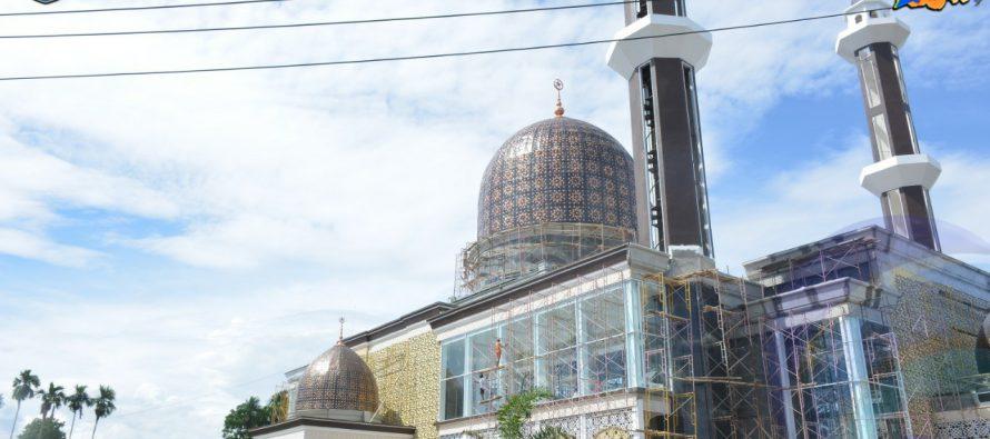 BUPATI DAN WAKIL BUPATI OKU SELATAN TINJAU PEMBANGUNAN TAHAP AKHIR ISLAMIC CENTRE