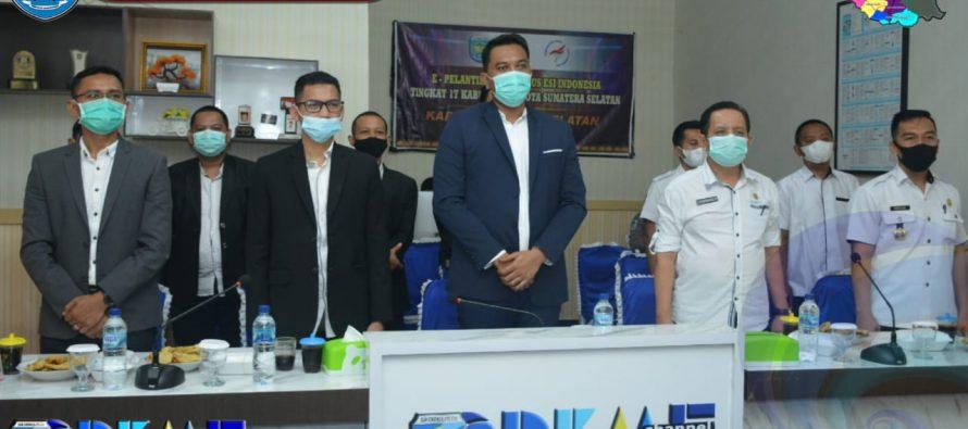 PELANTIKAN PENGURUS ESPORTS INDONESIA (ESI) TINGKAT 17 KABUPATEN/ KOTA SUMATERA SELATAN MASA BAKTI 2020-2024 MELALUI VIRTUAL.