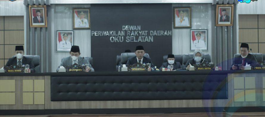 BUPATI DAN WAKIL BUPATI OKU SELATAN HADIRI PENUTUPAN RAPAT PARIPURNA DPRD TAHUN 2021.